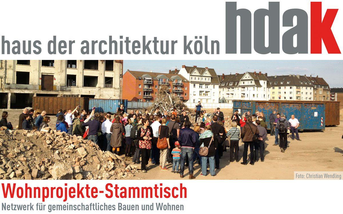 Heute Abend im hdak: Wohnprojekte-Stammtisch des Netzwerkes für gemeinschaftliches Bauen und Wohnen